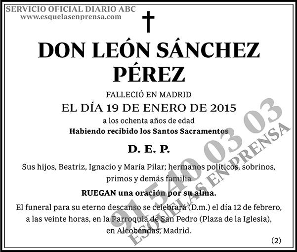 León Sanchez Pérez